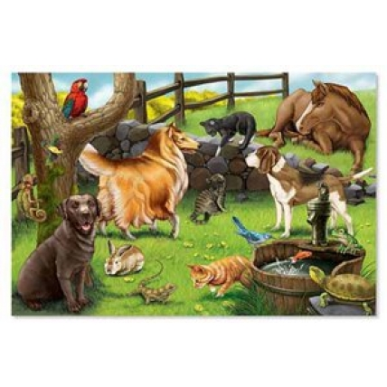 Puzzle de podea Animale de companie Melissa and Doug MD 0430