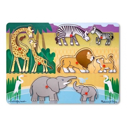 Puzzle lemn Safari - Melissa and Doug MD 1873