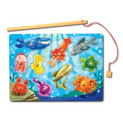 Joc din lemn de pescuit magnetic - Animale marine - Melissa and Doug MD 3778