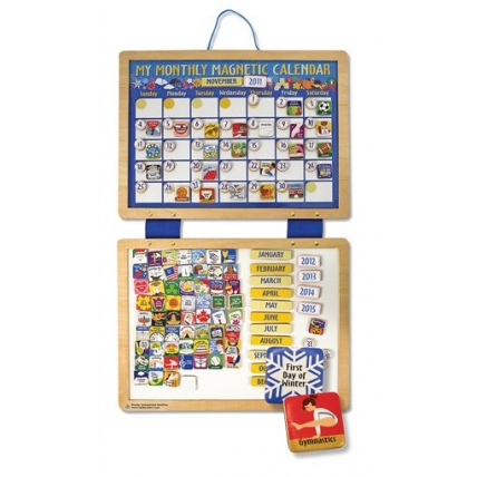 Calendar din lemn magnetic Melissa and Doug MD 3788