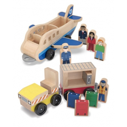 Set de joaca din lemn Aeroport Melissa and Doug MD 4387