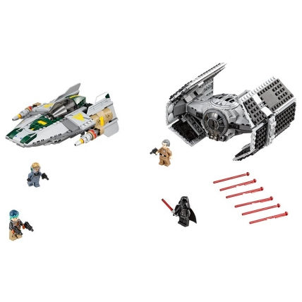 LEGO Starwars 75150 - TIE Advanced al lui Vader contra A-Wing Starfighter