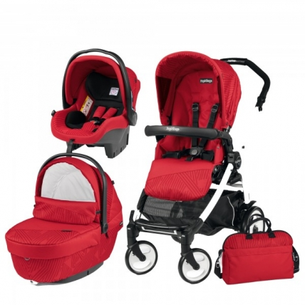 Carucior 3 in 1 Peg Perego Book Plus 51 Black&White Sportivo Geo