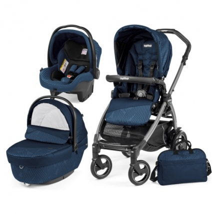 Carucior 3 in 1 BOOK PLUS 51 S Sportivo - GEO NAVY