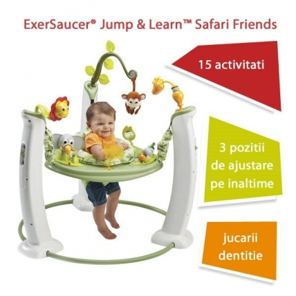 ExerSaucer Jump & Learn Safari Friends
