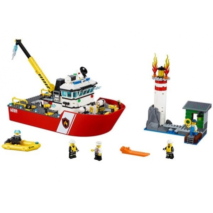 LEGO CITY 60109 - Salupa de stins incendii