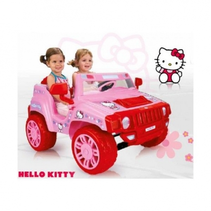 Masinuta electrica fetite Hello Kitty 12 v INJUSA INJ 7534