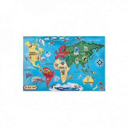 Puzzle de podea Harta lumii Melissa and Dog MD 0446