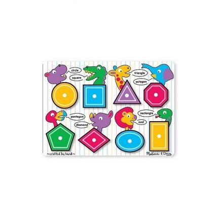 Puzzle lemn Forme geometrice Melissa and Doug MD 3285