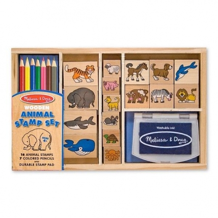 Set de stampile cu Animale Melissa and Doug MD 3798