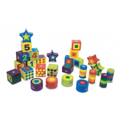 Joc cu activitati Insira Margelele Melissa and Doug MD 3775
