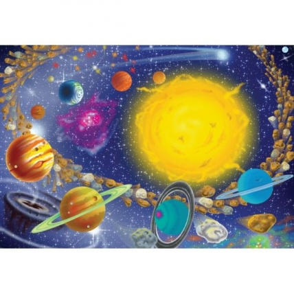 Puzzle Sistemul Solar 100 pcs Melissa and Doug MD 1378