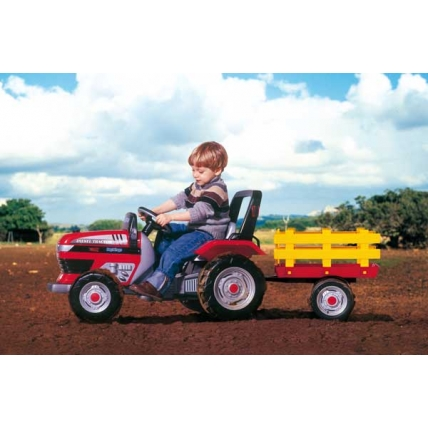 Tractor DIESEL cu remorca si pedale Peg Perego