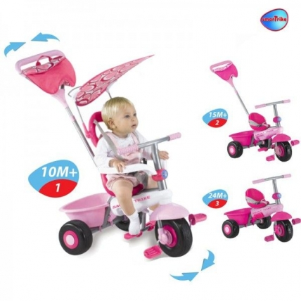Smart Trike Fresh 3 in 1 roz si alb