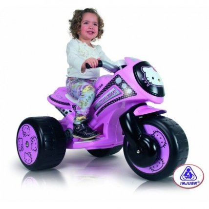 Tricicleta electrica Injusa Tribike Hello Kitty 6V INJ 7294