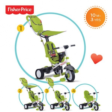 Tricicleta Charisma Fisher Price Verde 3 in 1
