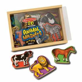 Animale din lemn cu magneti - Melissa and Doug MD 0475