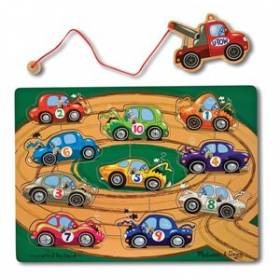 Puzzle lemn magnetic - Remorcherul - Melissa and Doug MD 3777