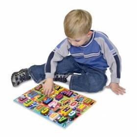 "Puzzle lemn in relief ""Litere"" Melissa and Doug MD 3833"