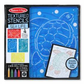 Set de sabloane texturate Animale marine Melissa and Doug MD 4589