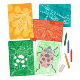Set de sabloane texturate Insecte Melissa and Doug MD 4594