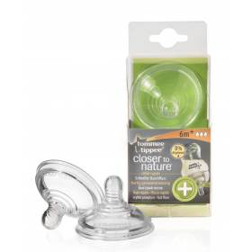"Tetină Anti-Colici cu flux rapid ""Closer to Nature""  x 2 buc Tommee Tippee - 6 luni +"