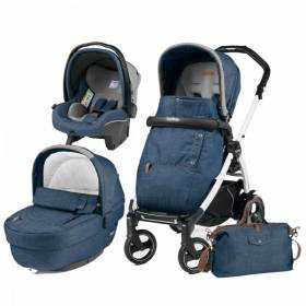 Carucior 3 In 1 Peg Perego Book Plus 51 S Completo Elite Urban Denim