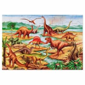 Puzzle de podea cu dinozauri Melissa and Doug MD 0421