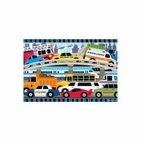 Puzzle de podea Blocaj in trafic Melissa and Doug MD 4421