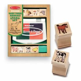 Set de stampile Pui de animale domestice - Melissa and Doug MD 1639