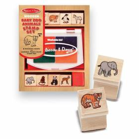Set de stampile Pui de animale salbatice Melissa and Doug MD 1638