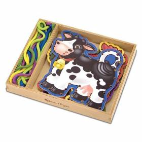 Joc cu sireturi - Animale de la ferma Melissa and Doug MD 3781