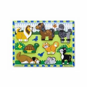 Puzzle lemn in relief Animale de companie Melissa and Doug MD 3724