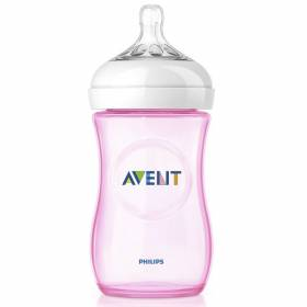 Biberon 260ml PP 0%BPA ROZ - Philips Avent Natural