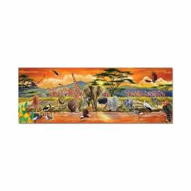 Puzzle de podea Safari 100 piese Melissa and Doug MD 2873