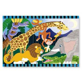 Puzzle de podea Safari Social Melissa and Doug MD 4423