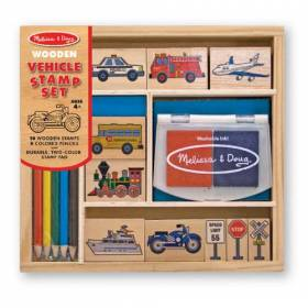 Set de stampile Vehicule - Melissa and Doug MD 2409