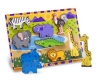 Puzzle lemn in relief Safari Melissa and Doug MD 3722
