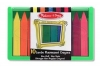 Set 10 creioane colorate groase trunghiulare in culori fluorescente Melissa and Doug MD 4153