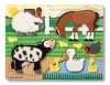 Puzzle de lemn Atinge si descopera - Animale de la ferma Melissa and Doug MD 4327