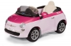 Fiat 500 Pink Peg Perego perspectiva
